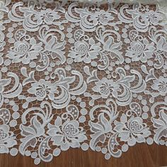 Venise lace fabric guipure lace white fabric by lacelindsay