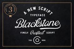 Blackstone Script. A clean, ultra-versatile script font with 2 texture treatments by Hustle Supply Co.
