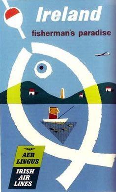 "1962 Aer Lingus  IRELAND ""Fisherman's Paradise"" [Brun ?]"