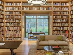 We LOVE this library! >> http://www.frontdoor.com/coolhouses/a-softer-take-on-contemporary-design-in-dallas?soc=pinterest