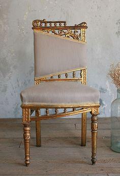 (via Vintage Gilt Side Chair)