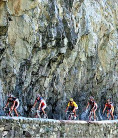 The most famous climb in the world, the site of the Tour de France's first-ever mountaintop ending, and a stage finish almost every year since 1976. It's 8.7 miles long, with 21 hairpins, an absolutely punishing average grade of 7.9 percent and a total elevation gain of 3,641 feet.