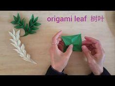 Easy Origami Willow leaf 折纸柳树叶 - YouTube