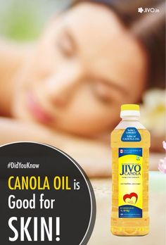 #DidYouKnow  Canola Oil is Good for Skin!  For treating Skin Problems Loaded with the richness of Vitamin E and K, canola oil helps eliminate skin problems such as acne, wrinkles, fine lines, blemishes, etc. It helps keep the skin young, hydrated and glowing.