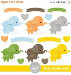 70% OFF SALE Baby clipart, baby elephant clipart, elephants clipart, elephant clip art, baby shower clipart, baby animal - CA313 by PremiumClipart on Etsy