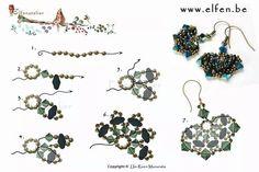 FREE Earrings Pattern from Elfenatelier, elfen.be
