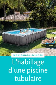 Piscine tubulaire : comment personnaliser son habillage ? #piscine #tubulaire #habillage #jardin #terrasse Foyers, Outdoor Furniture, Outdoor Decor, Outdoor Storage, Home Decor, Gardens, Pools, Decoration Home, Mud Rooms