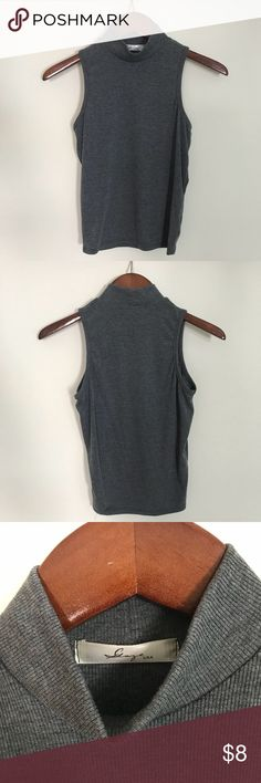 Grey turtle neck tank It a soft and cozy turtle neck tank Tops