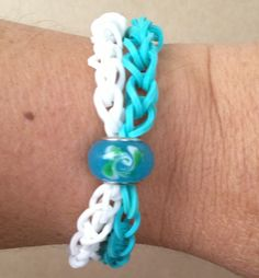 Rainbow Loom double band with charm