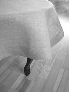 Linen tablecloth square natural gray with a classic by daiktuteka,