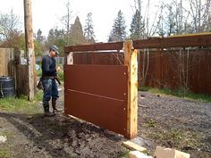 modern fence-thick panels