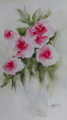 Rosas. Acuarelas de Elena Draque