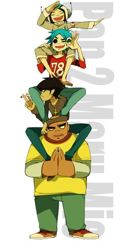 Have I mentioned that I love Gorillaz? Because I love Gorillaz 💙💚💛💜 Sunshine In A Bag, Gorillaz Fan Art, Russel Hobbs, Villainous Cartoon, Animes Wallpapers, Music Stuff, Cool Bands, Music Artists, Character Design