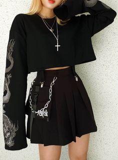 Egirl Fashion, Teen Fashion Outfits, Grunge Fashion, Korean Fashion, Fashion Dresses, Gothic Fashion, Fashion Brands, Fashion Accessories, Alternative Outfits