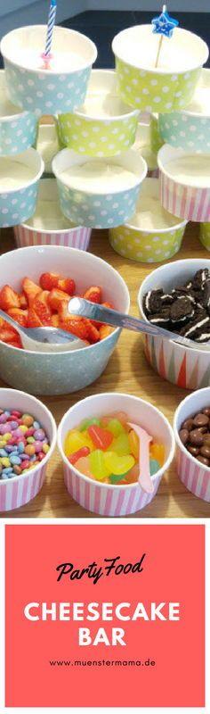 Cheesecake oder Joghurtbar zum Kindergeburtstag oder zur Einschulung Cheesecake Bars, Baking, Breakfast, Sweet, Baby Kind, Boys, Pie, Kid Cooking, Kid Recipes