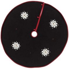 """Decorate your Christmas tree and make it festive with our Christmas Snowflake Felt Tree Skirt 48""""! https://www.primitivestarquiltshop.com/products/christmas-snowflake-felt-mini-tree-skirt-21 #MerryChristmas"""