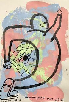 Kamagurka - Wandelaar met spin