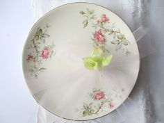 Vintage Knowles Romance Floral Salad Plates Set of by thechinagirl