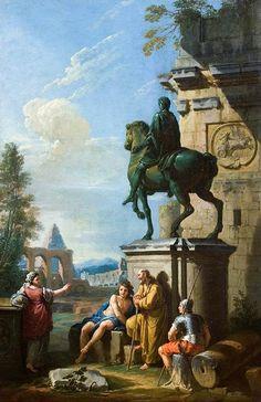 """""""El sermón de una Sibila"""" - (óleo sobre lienzo);´Colección Privada -ZOCCHI, Giuseppe"""