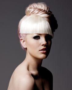 Hairdressing #plait #updo #pink #hairstyle #tafe