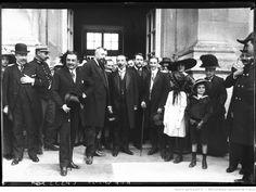 26-7-12, musée de Maisons-Laffitte [inauguration, Léon Bérard et les officiels] : [photographie de presse] / [Agence Rol]
