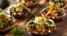 Roasted On The Outside & Juicy On The Inside. These Stuffed Mushrooms Are Absolute Perfection!