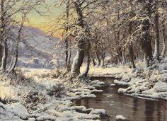 animales arte clásico y paisajes (invierno) LN © Laszlo Neogrady (Artista húngaro 1896-196