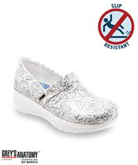 Grey's Anatomy by SoftWalk White Floral Meredith Nursing Shoe Style # MEREDWF #nursingshoes #shoes