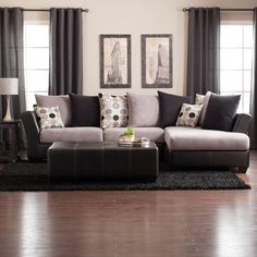 Living Room Sectional On Pinterest Leather Sectional