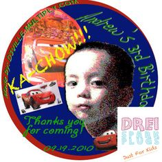 Drei Spark Plugs: Party Invitations and Party Giveaways – Towel Lollipops with Personalized Thank You Photocard Disney Cars Theme Custom-made design made exclusively by Drei Spark Plugs Personalized Layout and Print Contact us for your customized needs.