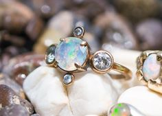 faceted opal ring materia prima jewelry