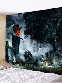 4a9e2aa4d9 Shop for Multi W59 Inch   L51 Inch Halloween Pumpkin Tree Tapestry Art  Decoration online at  13.55 and discover fashion at RoseGal.com Mobile