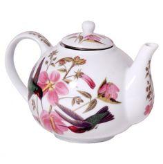 Audubon Tea Pot, tea break with hummingbirds