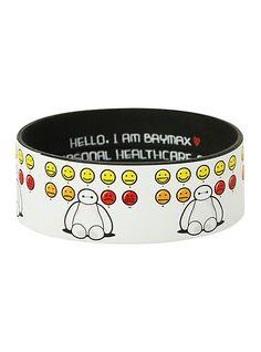 Disney Big Hero 6 Baymax Moods Rubber Bracelet | Hot Topic