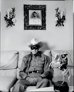 Former Lone Ranger, Clayton Moore.  Photographed in his Los Angeles home by Mary Ellen Mark.