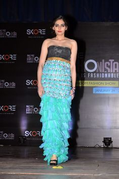 Model walking on the ramp at India's first ever condom fashion show. #Fashion #Style #Beauty