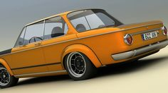 BMW 2002ti Alpina 3D rendering