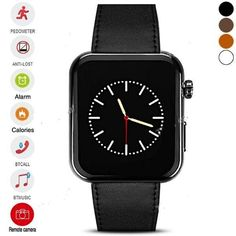 DIGIWatch Bluetooth Smartwatch - SMS + Phonebook Sync, Makes + Answers Calls,