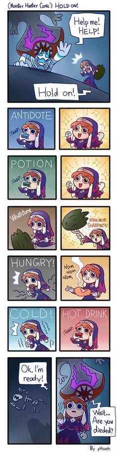 (Monster Hunter Comic) Hold On! by phsueh