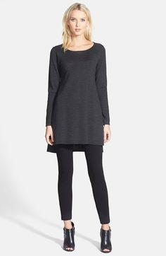 Eileen Fisher Ligthweigth Merino Tunic & Knit Leggings  available at #Nordstrom