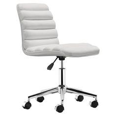 Admire White Office Chair @Zinc_Door