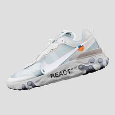 Which Off-White x React Element 87 would you like to see drop? Gucci Sneakers, Sneakers For Sale, Sneakers Fashion, Sneakers Nike, Minimal Shoes, Nike Kicks, Off White Shoes, Style Japonais, Nike Airforce 1