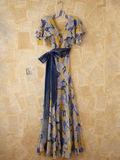 Vintage 30s Silk Chiffon Dress at Free People. Gorgeous.
