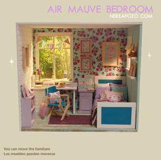 "Nerea Pozo Art: New Diorama "" AIR MAUVE BEDROOM """