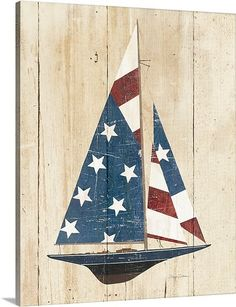 Wouldn't you love to float away in an american boat. You would travel far but you would always want to come home to America.