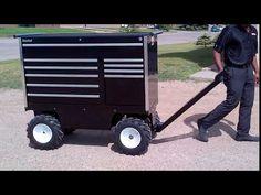 Electric Motorzied All-Terrain Pit Box - Call PUG Technologies Inc to fi. Tool Organization, Tool Storage, Electric Utility, Metal Fab, Tool Box, Nascar, Workplace, Man Cave, Pugs