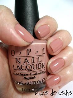 OPI Dulce de Leche. A warm pinkish nude. Clean, chic and neutral. Very pretty! This suits my skin tone better than Tickle my France-y which is a little dark for me.
