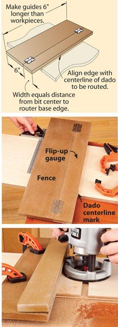 Route dead-center, great tip! #woodworkingtools