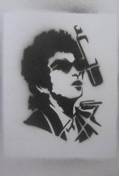 bob dylan stencil by bluchili
