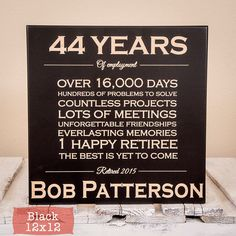 Personalized Retirement Gift - Retirement Gifts - Retirement Gifts for Men - Retirement Gifts for Women - Retirement Sign - Wood Engraved by GiftedOak on Etsy https://www.etsy.com/listing/256955936/personalized-retirement-gift-retirement